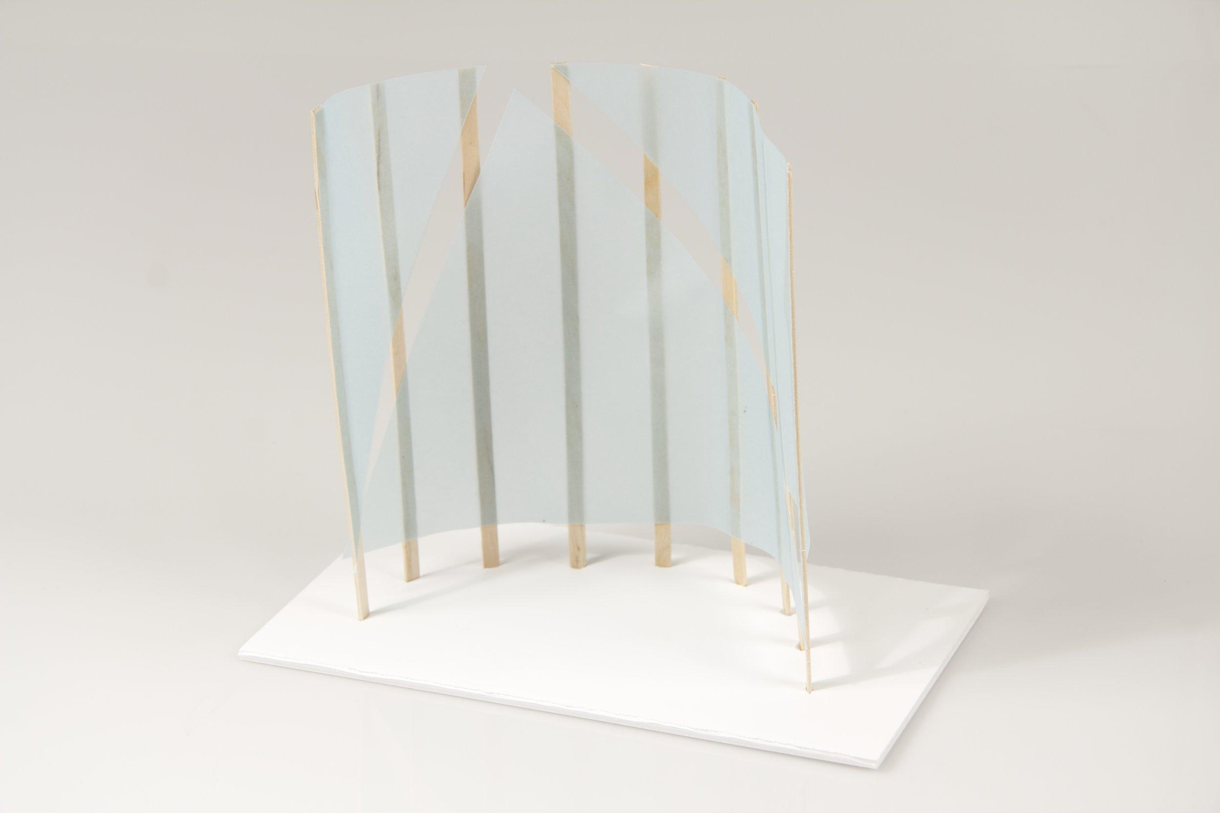 japanese screen maquettes 3 crane away rebecca howson