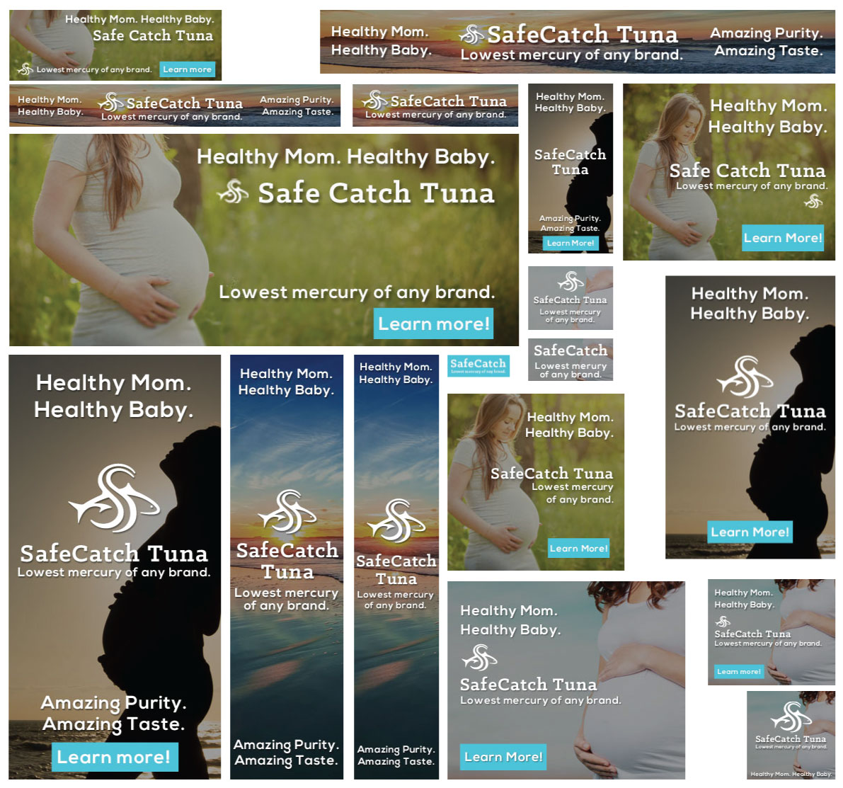 Pregnancy Themed Web Banners