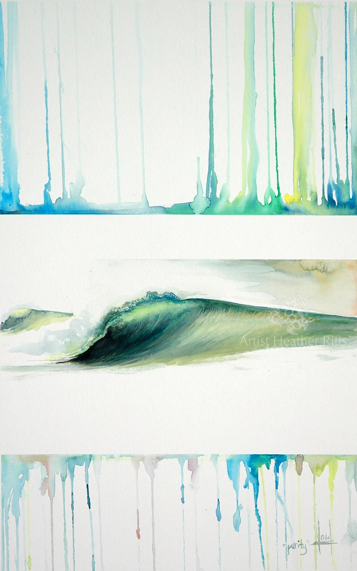 """""""Purity"""" Watercolor on Illustration Board"""