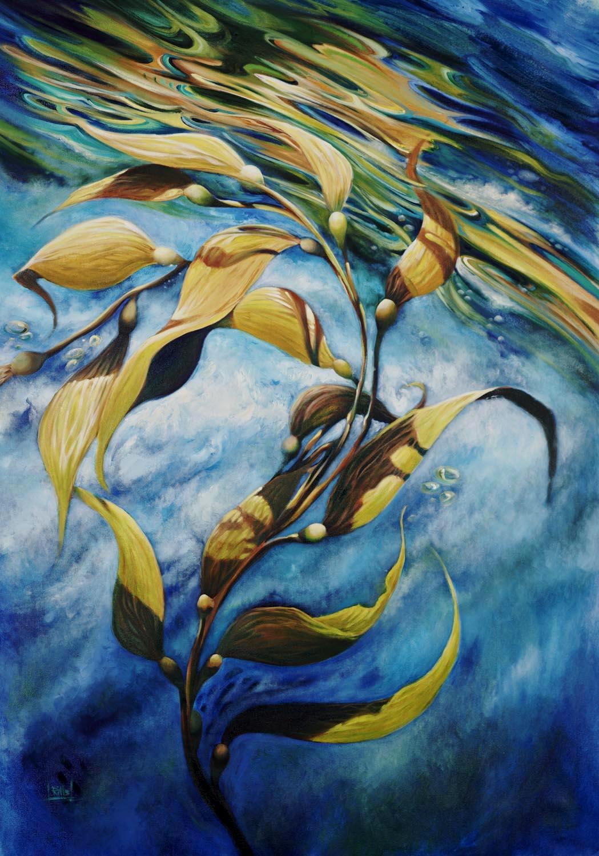 """Coastal Gold"" Oil on Canvas"