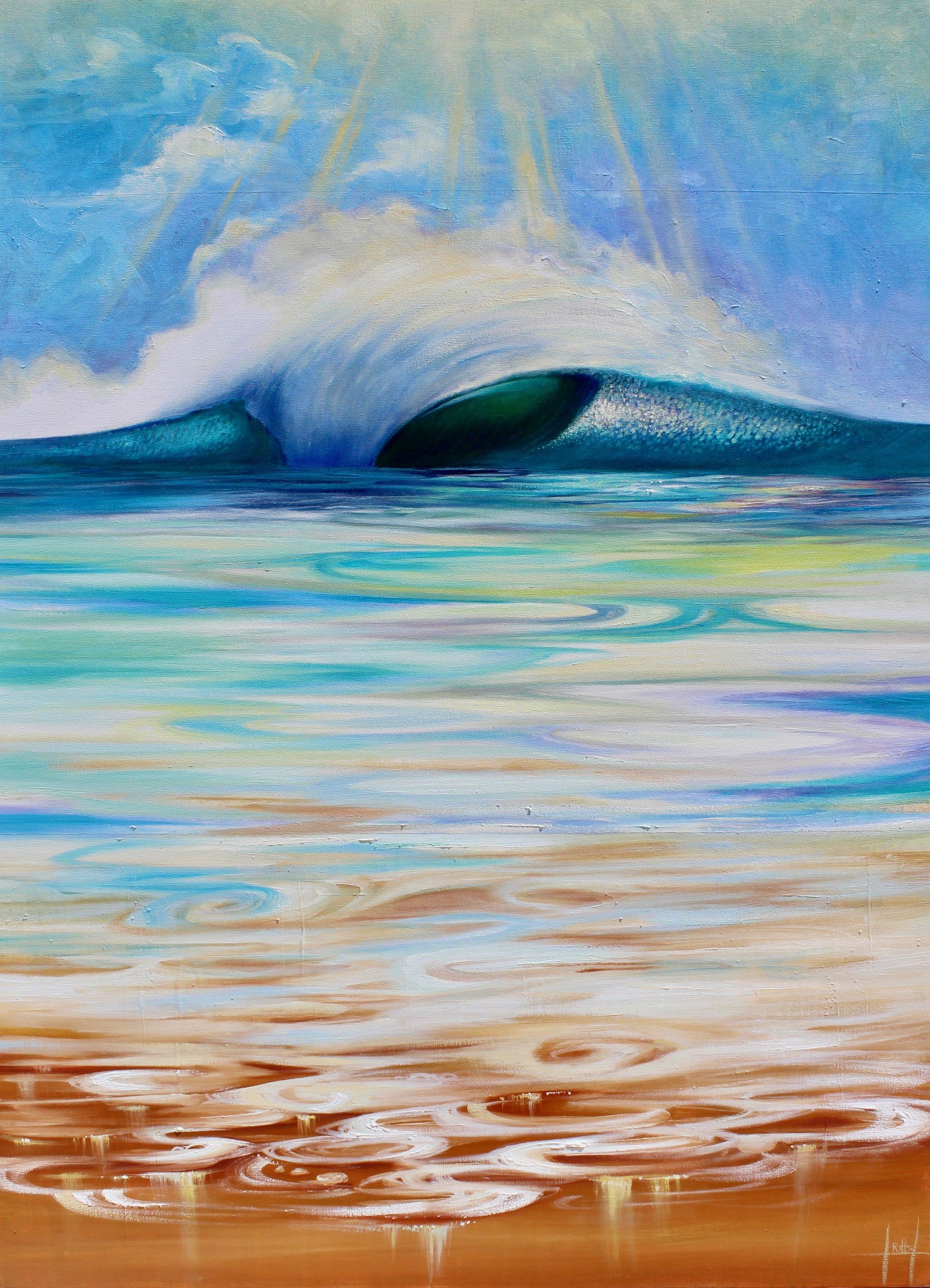 """""""Desert Oasis"""" Oil on Canvas"""