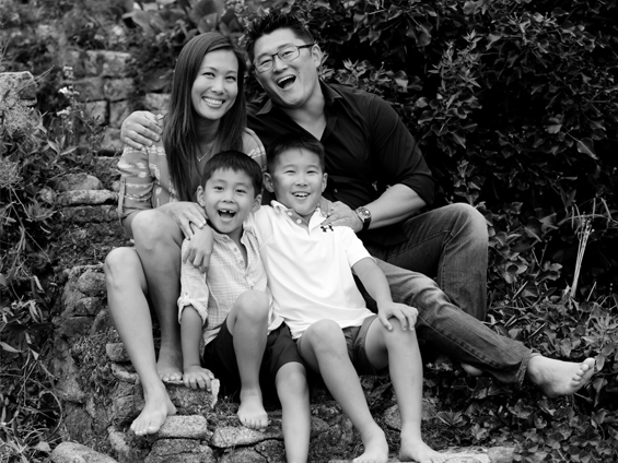 Dr Thomas Kang, Dr. Katie Kim and their two boys Michael (7) and Marcus (6)