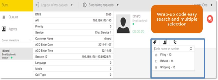 The ShoreTel Connect Contact Center allows supervisors and administrators to create custom Wrap Up codes to better report on what types of calls are entering their call center.