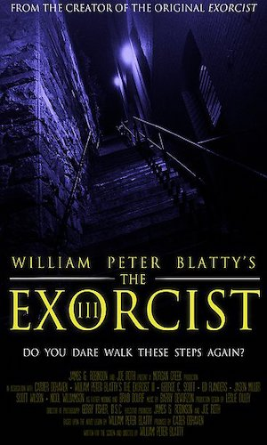 The Exorcist 3 - Dir. William Peter Blatty   imdb synopsis: A police Lieutenant uncovers more than he bargained for as his investigation of a series of murders, which have all the hallmarks of the deceased Gemini serial killer, leads him to question the patients of a psychiatric ward.