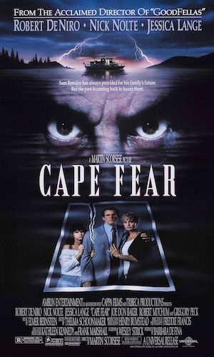 Cape Fear - Dir. Martin Scorsese   imdb synopsis: A convicted rapist, released from prison after serving a fourteen-year sentence, stalks the family of the lawyer who originally defended him.