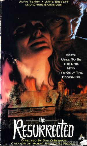 The Resurrected - Dir. Dan O'Bannon   imdb synopsis: Charles Dexter Ward's wife enlists the help of a private detective to find out what her husband is up to in a remote cabin owned by his family for centuries.