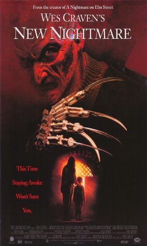 New Nightmare - Dir. Wes Craven   imdb synopsis: A demonic force has chosen Freddy Krueger as its portal to the real world. Can Heather Langenkamp play the part of Nancy one last time and trap the evil trying to enter our world?