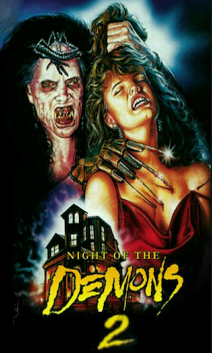 Night of the Demons 2 - Dir. Brian Trenchard-Smith   imdb synopsis: High school students throw a Halloween party in a mansion haunted by a young demon.