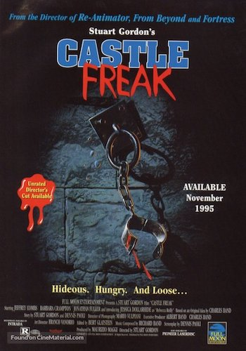Castle Freak - Dir. Stuart Gordon   imdb synopsis: A man struggles to save his family from the strange and deadly occurrences in the castle they've inherited.