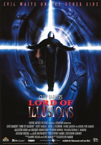 Lord of Illusions - Dir. Clive Barker   imdb synopsis: As a twelve-year-old hostage, Dorothea assists in the brutal murder of her captor, Nix, an evil cult leader with supernatural powers, by his former protege, Philip Swann. Thirteen years later, she seeks the assistance of a detective specializing in the occult when former cult members associated with Swann, now a prominent illusionist, are threatened by Nix's most loyal and sadistic disciple.