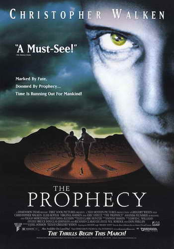 The Prophecy - Dir. Gregory Widen   imdb synopsis: The angel Gabriel comes to Earth to collect a soul which will end the stalemated war in Heaven, and only a former priest and a little girl can stop him.