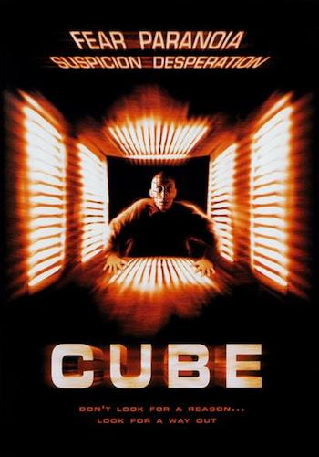 CUBE - Dir. Vincenzo Natali   imdb synopsis: 6 complete strangers of widely varying personality characteristics are involuntarily placed in an endless maze containing deadly traps.