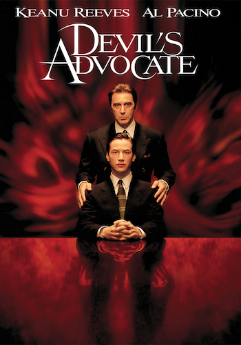 Devil's Advocate - Dir. Tylor Hackford   imdb synopsis: An exceptionally adept Florida lawyer is offered a job at a high-end New York City law firm with a high-end boss - the biggest opportunity of his career to date.