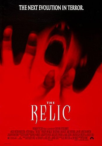 The Relic - Dir. Peter Hyams   imdb synopsis: A homicide detective and an anthropologist try to destroy a South American lizard-like god, who's on a people eating rampage in a Chicago museum.