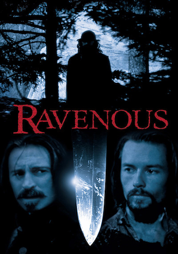 Ravenous - Dir. Antonia Bird   imdb synopsis: In a remote military outpost in the 19th century, Captain John Boyd and his regiment embark on a rescue mission which takes a dark turn when they are ambushed by a sadistic cannibal.