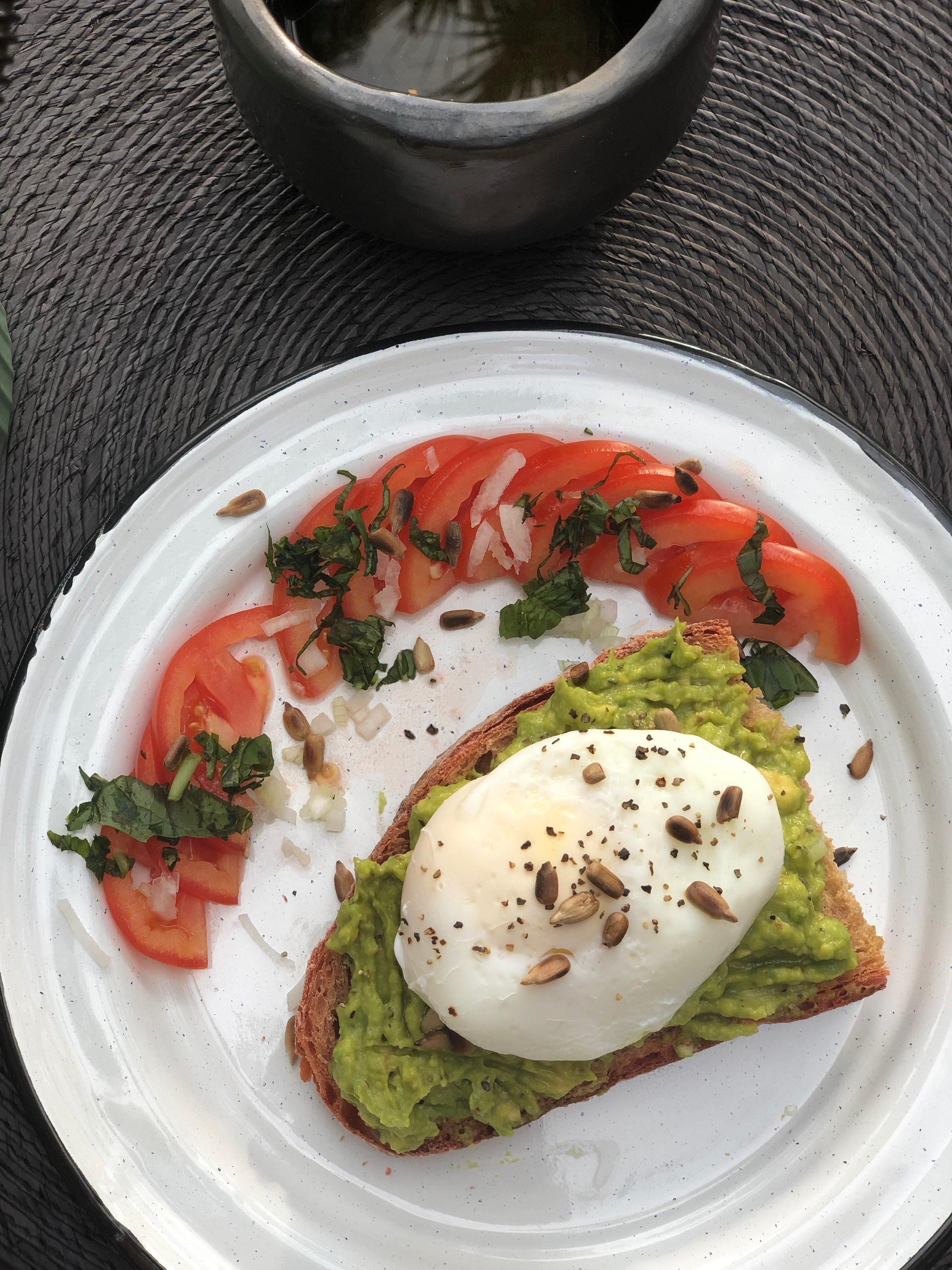 avocado toast at Kima Tulum