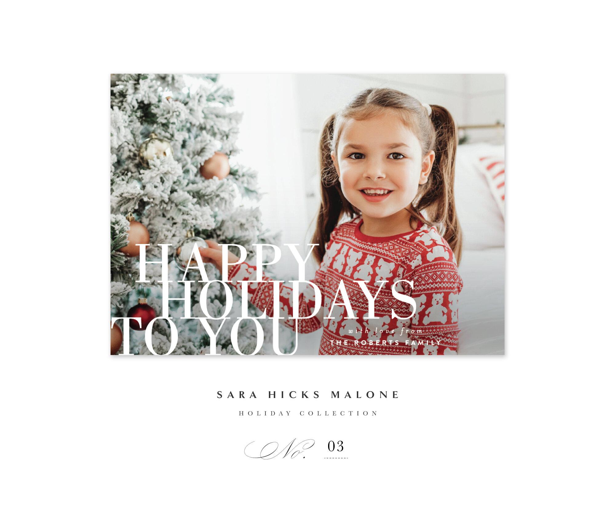 'Happy Holidays to You' by Sara Hicks Malone