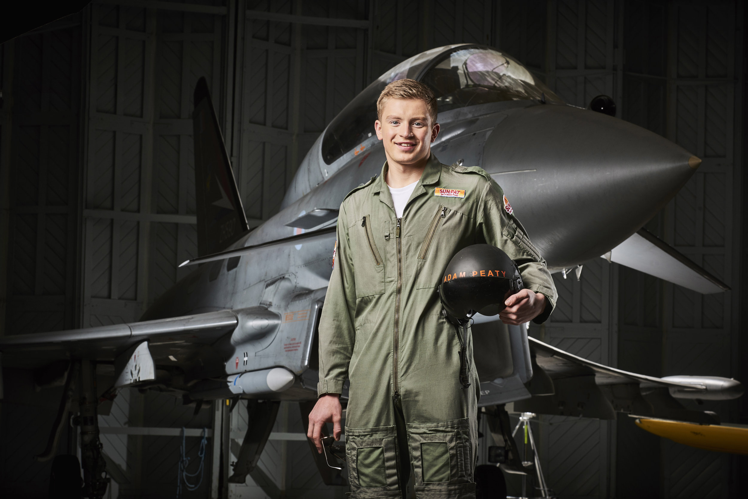 Olympic Gold medal winning swimmer Adam Peaty realises his childhood dream of being a pilot as research by Sun-Pat Peanut Butter reveals that 4 out of 5 people who had an active childhood achieved their dreams.jpg