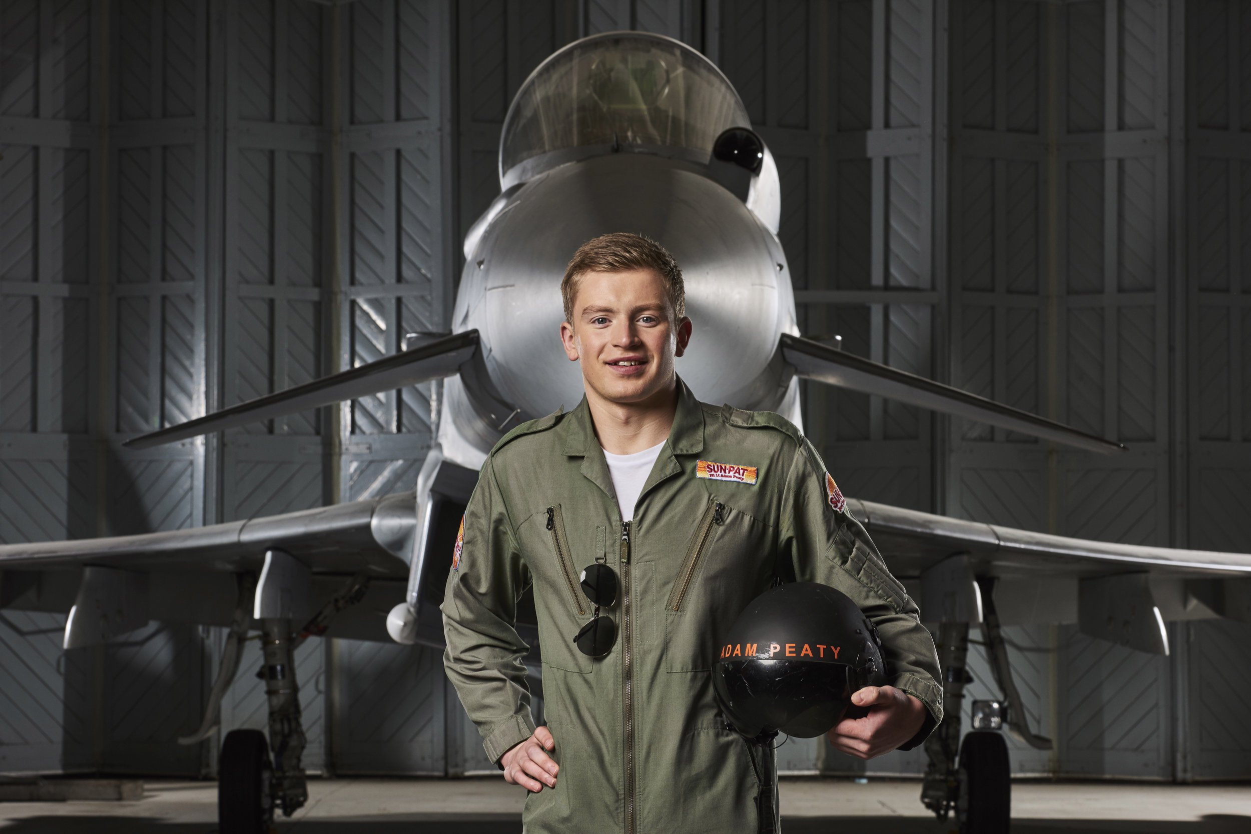 Olympic Gold medal winning swimmer Adam Peaty realises his childhood dream of being a pilot as research by Sun-Pat Peanut Butter reveals that 4 out of 5 people who had an active childhood achieved their dreams..jpg