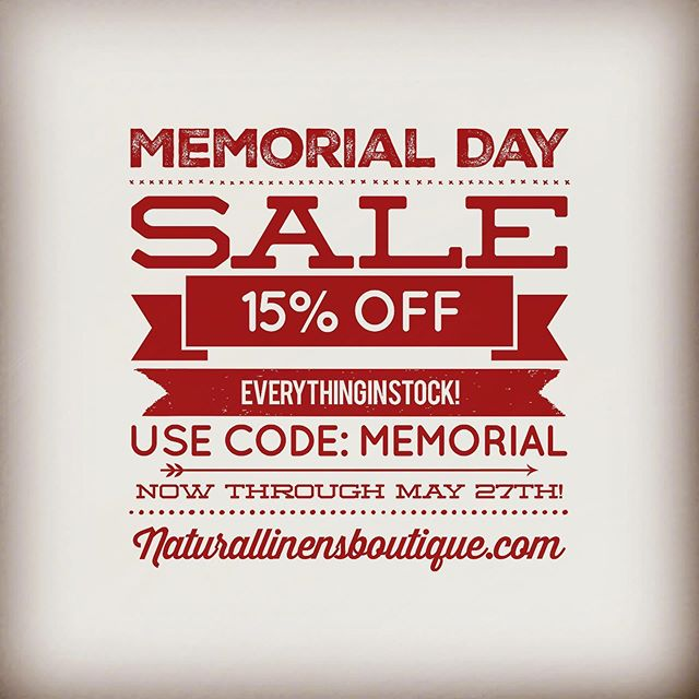Now through end of day May 27th, shop at naturallinensboutique.com and receive 15% off everything in stock! Use code: 'memorial' when checking out.  Link to store in bio! . . . #zerowaste #sustainableliving #memorialdaysale #zerowaste #zerowasteliving #consciousliving #consciousparenting #zerodechets #greenliving #minimalism_life #lovelife #minimalism #kitchendecor #kitchen #minimalismchallenge #organicskincare #organiclifestyle #farmersmarket #lunchideas #organicfoods #kitchenideas #sustainabilitymatters #environmentalist #naturallinensboutique #changeforbetter