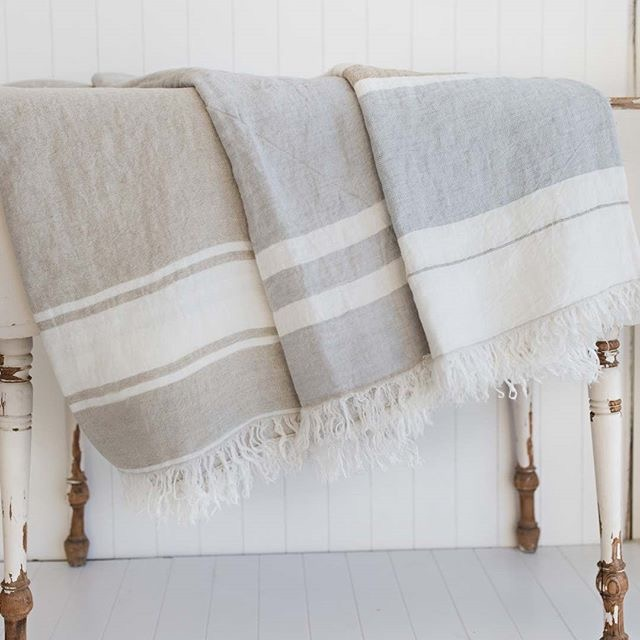 "These beautiful Belgian linen towels are so multifunctional too! - - beach towel - throw blanket - shoulder shawl - bed cover - great gift!  Measures 39 x 57"" (60 x 80cm). What other uses can you come up with? three colors to choose from!  And remember receive 15% off when signing up to receive newsletter.  AND $5.00 flat rate shipping in USA!  Visit www.naturallinensboutique.com . . .  #decor #homedecor #interior #decoration #homesweethome #homedesign #striped #instastore #replica #eco #sustainability #sustainablefashion #ecofashion #recycle #sustainableliving #reuse #ethicalfashion #sustainabledesign #environment #organic #ethical #plasticfree #zerowaste #minimalist #gogreen #homelinens #frenchlinens #belgianlinen #frenchdecor #linencloset"