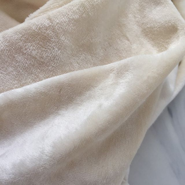 "Ooh wow this looks really soft! That's because it is.  This soft bamboo is now being sold at my online Etsy store at www.naturallinens.etsy.com for $11.50 a yard or $22 for 2 yards.  Send me a message if you prefer a direct invoice.  Some info on the fabric.  Fabric Description - This bamboo velour is 67% Bamboo Viscose, 28% Organic Cotton and 5% Polyester. - It is 62"" wide & weighs 280 GSM - undyed cream color and is great for your next dye project.  Bamboo Velour is the perfect fabric for many necessities and luxuries Ideas for use: pre-folds and cloth diapers, mama cloth, yoga pants, eye masks, towels, baby blankets and towels. . . . #sustainablegoods #sustainableliving #farmersmarket #organiclifestyle #minimalist #zerowaste #plasticfree #cottonbag #homedecor #filet #homesweethome #homedesign #marketbag #marchet #frenchcountry #france #kitchendecor #instastore #kitchendesign #eco #sustainability #sustainablefashion #recycle #sustainableliving #reuse #sustainabledesign #organic #zerowaste #gogreen #homelinens #frenchlinens"