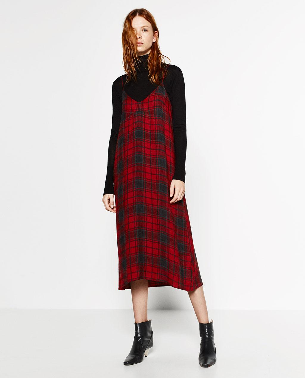 Checked Slip Dress