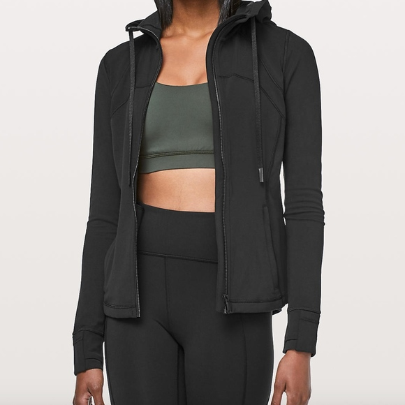 Black Lululemon Hooded Define Jacket