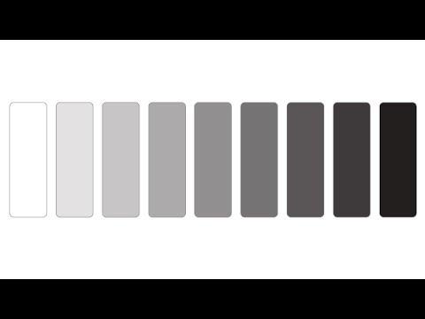 Grayscale Colour Range