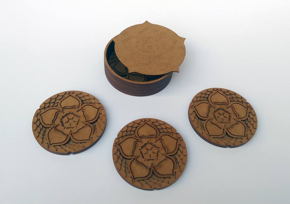 Veneer wood- Layered coasters