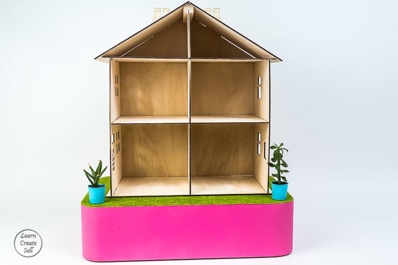 Plywood- flatpack Dollhouse