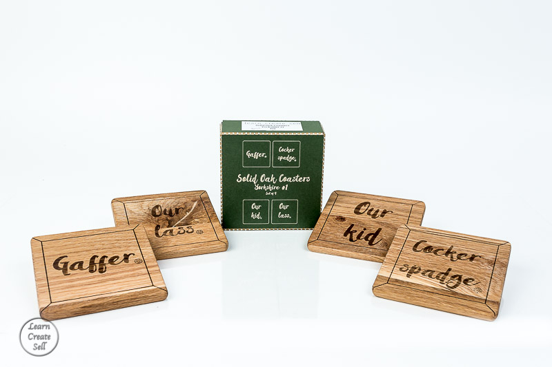 Oak Engraving- Coasters