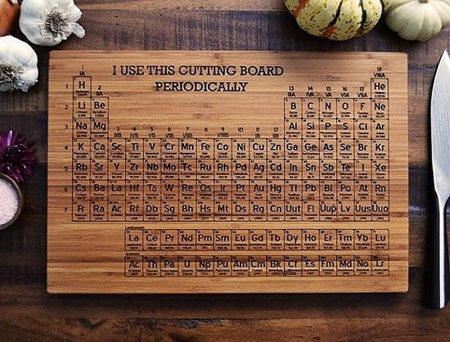 Not all of us find the task of cutting vegetables boring. But, an egghead surely does. Gerald and Summer from @ElysiumWoodworks have added a little fun to this dull task. So, if you happen to be a scientific geek, then I'm sure you are going to love these Scientific Cutting Boards in your kitchen.  @etsy