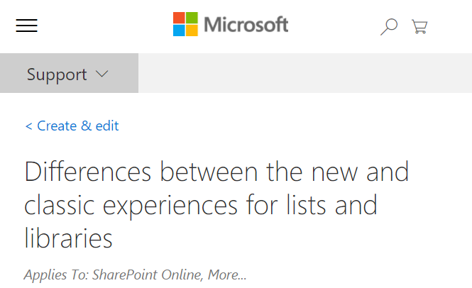 SharePoint Experiences: Modern vs. Classic - If you are looking for a little more insight into the differences between SharePoint's Classic and Modern experiences, here is a good place to start.