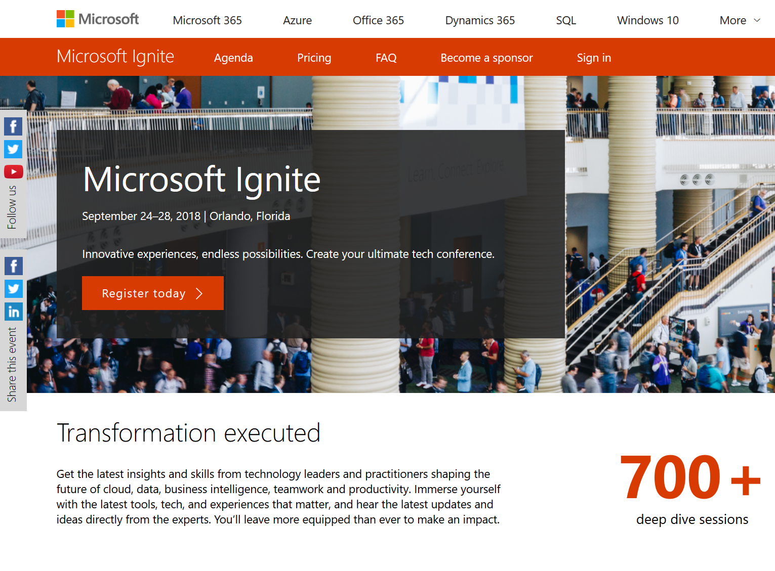 Ignite 2018 in Orlando: Registration is Open - This is one of the best conferences for folks invested in Microsoft solutions.