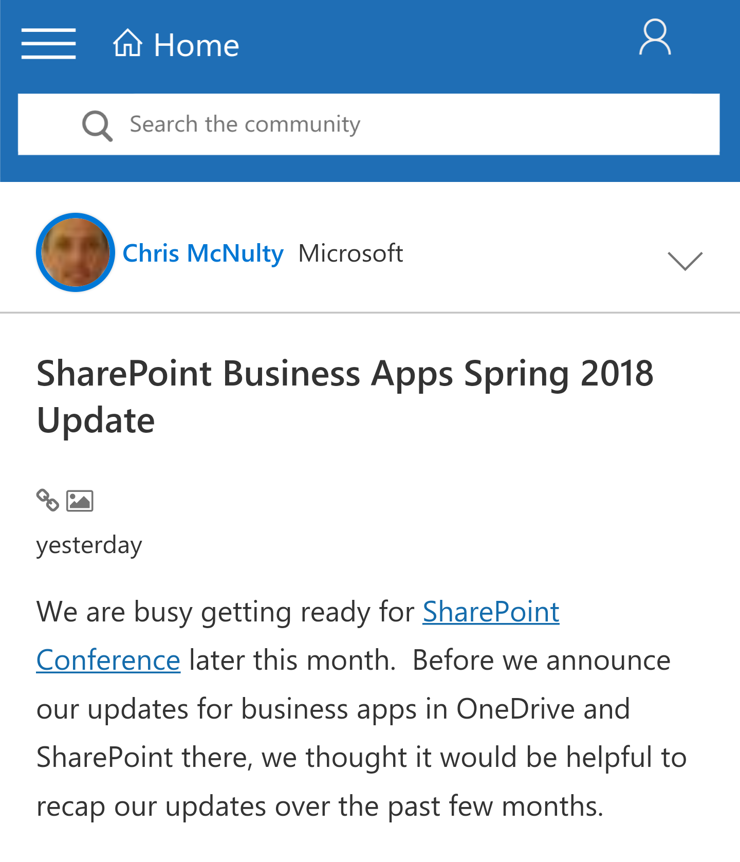 From the Product Team: SharePoint Update - Find out what the SharePoint Team has recently completed and what they'll be working on next. (Microsoft)