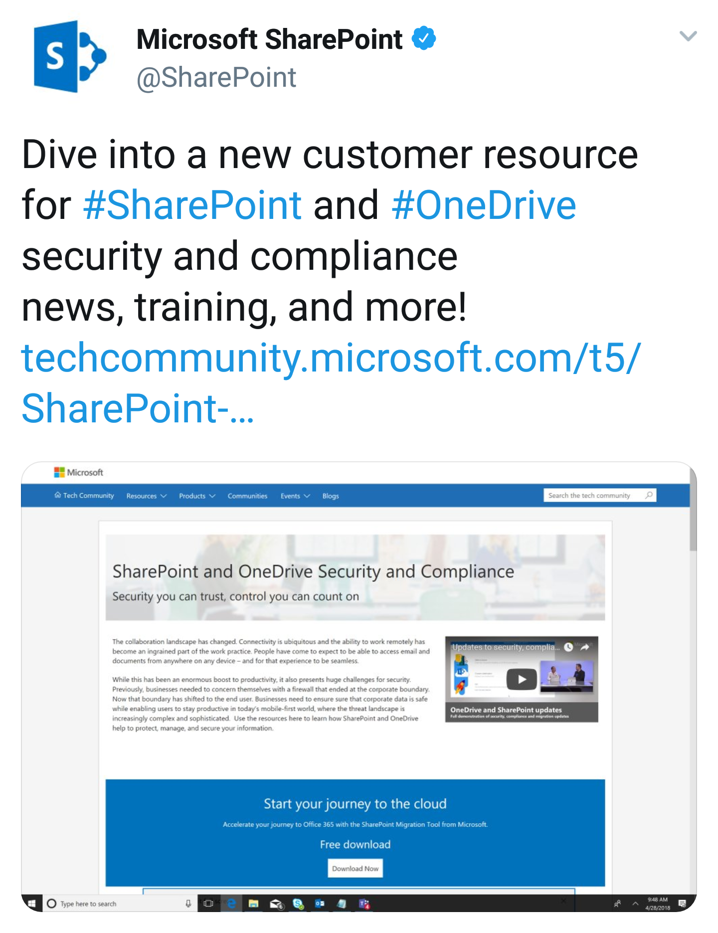 New Security and Compliance Resource for SharePoint and OneDrive Available - Keep your content secure people. (Microsoft)