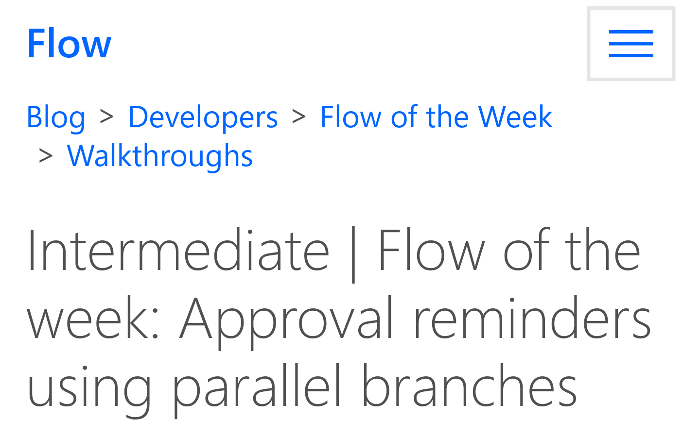 Flow of the Week: Approval Reminders using Parallel Branches - Remind. Everyone. (Microsoft)