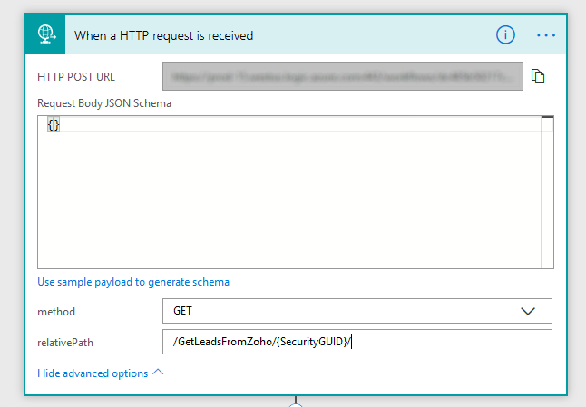 """When a HTTP Request is Received {""""do"""" : """"awesome stuff""""}"""