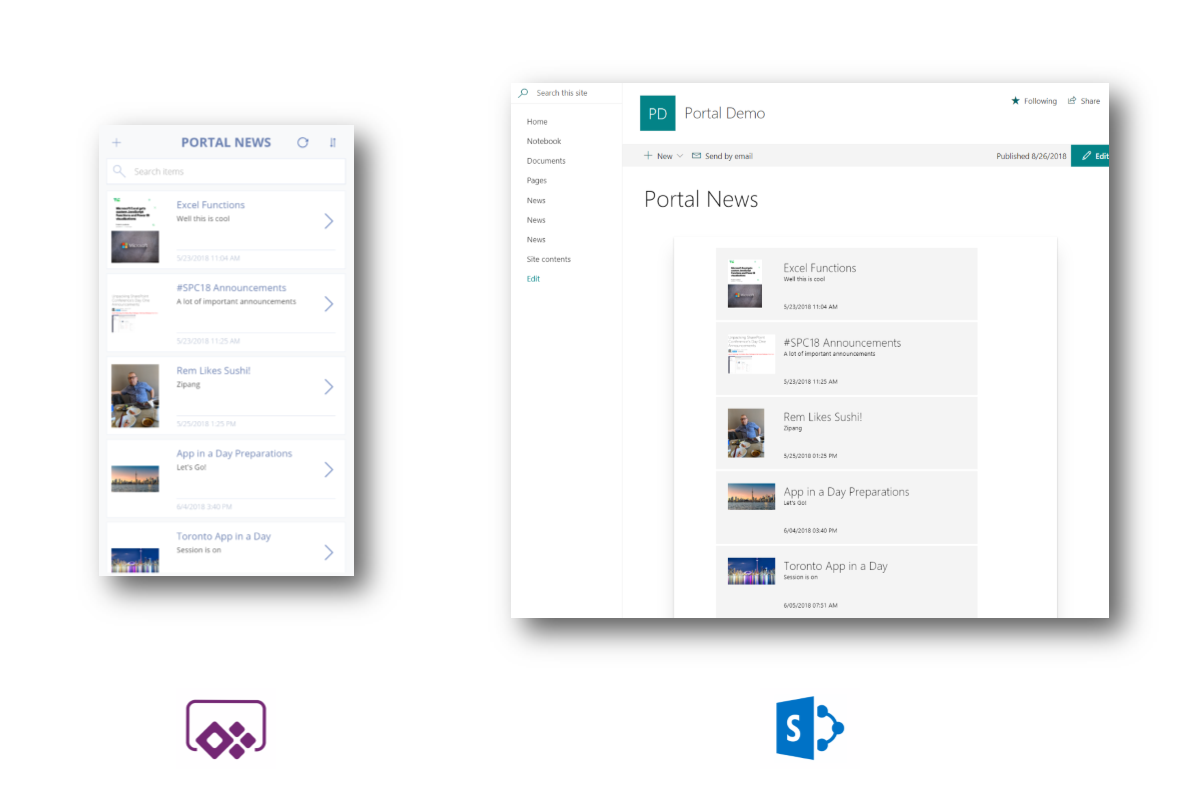 Our Portal News solution is now available. Now you can publish simple news stories from your phone via PowerApps directly into your SharePoint portal.