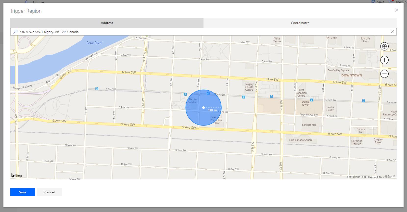 Location Trigger by Address