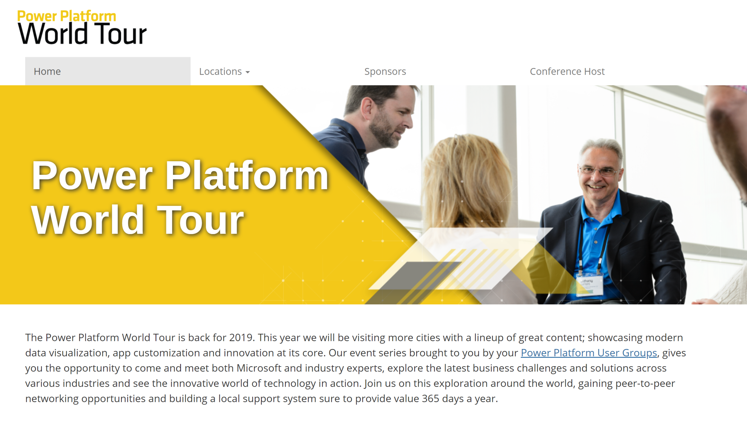 The Power Platform World Tour - The Power Platform World Tour has Canadian Stops in Toronto, Vancouver and Calgary.Use the link the link below to find all of the details.