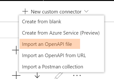 Import a Open API / Swagger file into your PowerApps environment