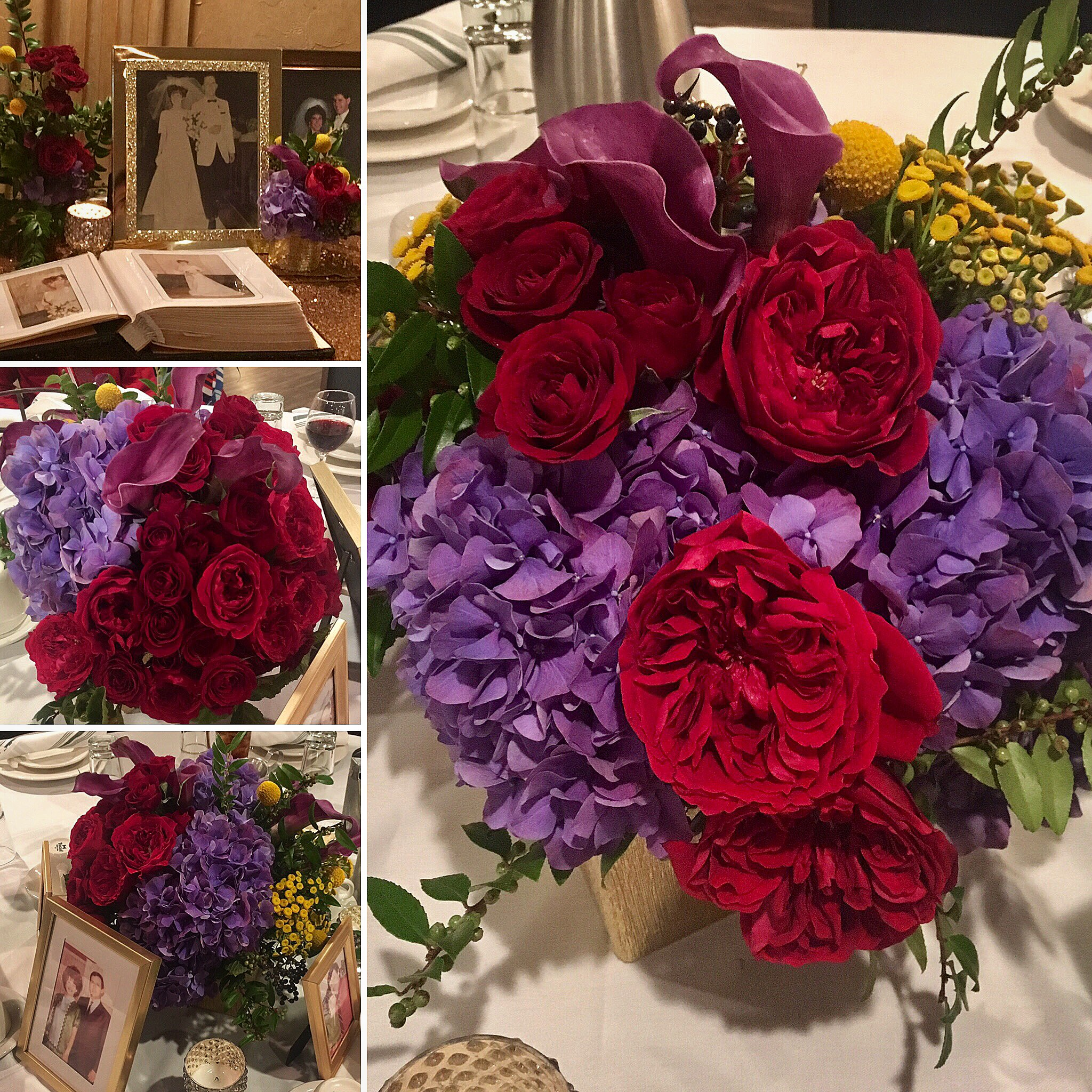 """Cheryl Morley - """"Happy Anniversary Mom & Dad!! And a world of thanks to @mcdesignsinc for the design and amazing floral decor for the event. Everyone was speechless and wanted to know """"who did your flowers?"""""""""""