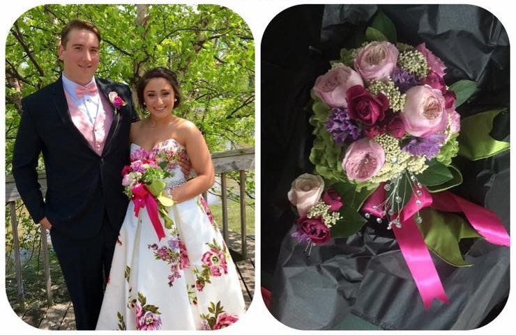"""Celeste Reda - """"I was in tears when I opened the box! The bouquet was more than we could have imagined!"""""""