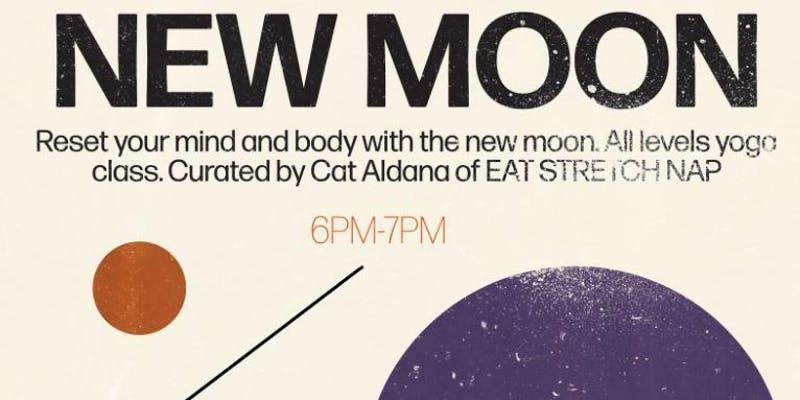 new moon yoga eat stretch nap