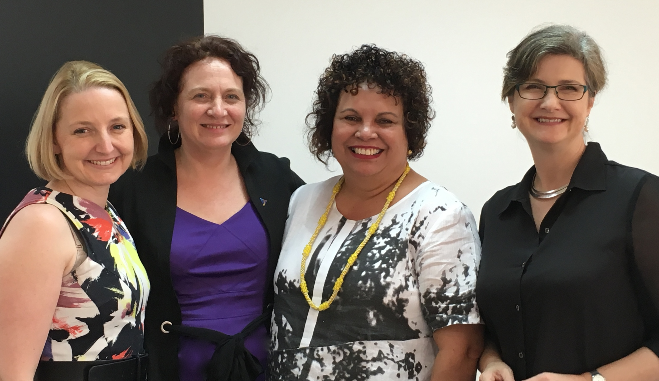 Alicia with Ailsa Leacy (GM YWCA Qld), Leann Wilson (Regional Ecoomic Solutions) and Kate Tully (CEO, YWCA Qld)