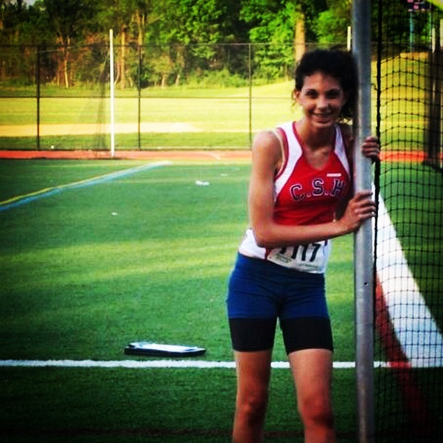 Photo of me as a ninth-grade runner,after a five-minute mile. I love this pic!