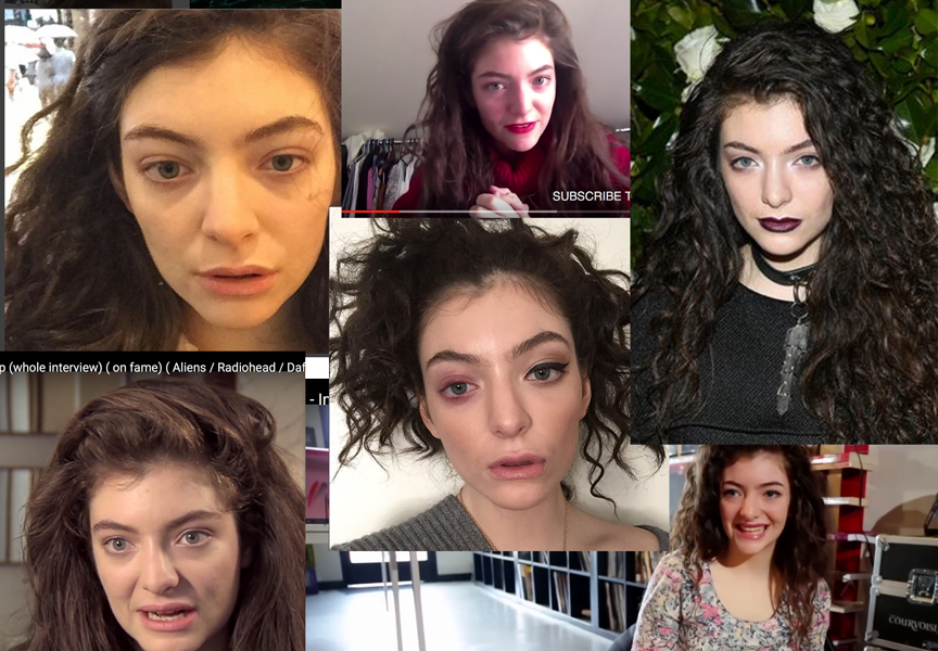 Images taken from Lorde's instagram and online interviews