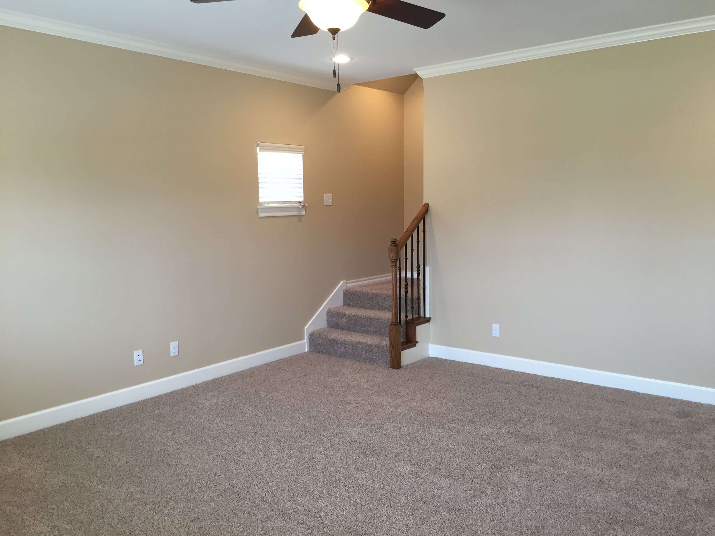 living looking to stairs